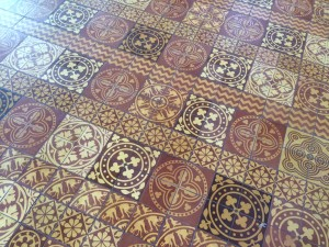 Lugwardine Chapel tiles