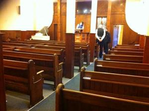 Bethesda Baptist Chapel pews